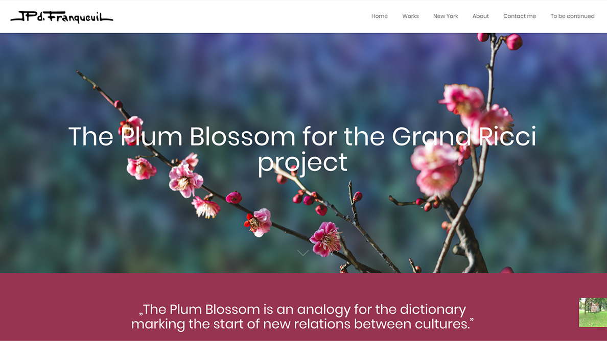 "Détail de la page ""The Plum Blossom project"""